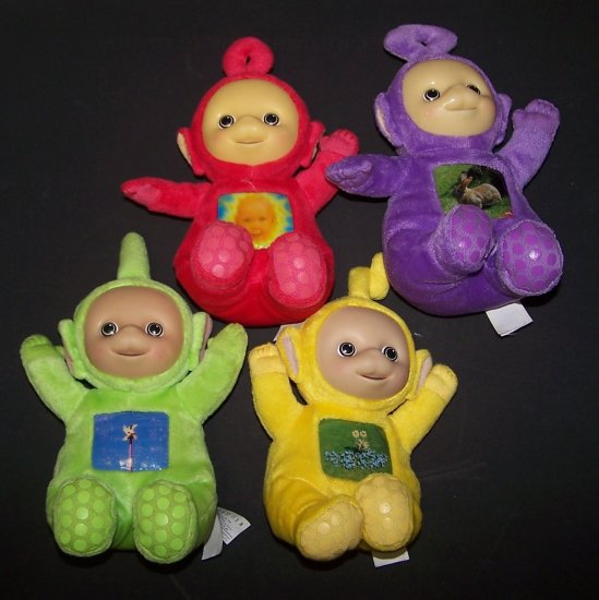 4 Teletubbies bean bag plush Laa Laa Tinky Dipsy Po