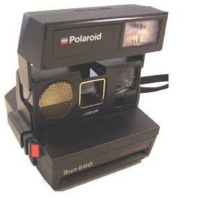 POLAROID Sun 660 Autofocus CAMERA uses 600 Film Excellent Sun660