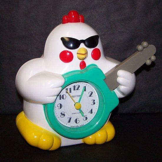 Vintage Rock N Roll Rhythm Chicken Clock Japan  Speak-up Alarm Clock