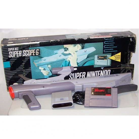 Super Nes Super Scope 6 for Super Nintendo in Box