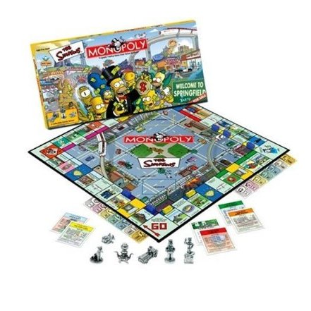 Simpsons Monopoly  Parker Bros