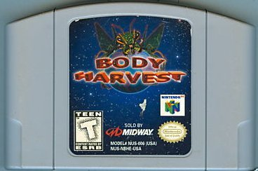 Body Harvest N64 Nintendo 64 Nintendo 64 Game Cartridge