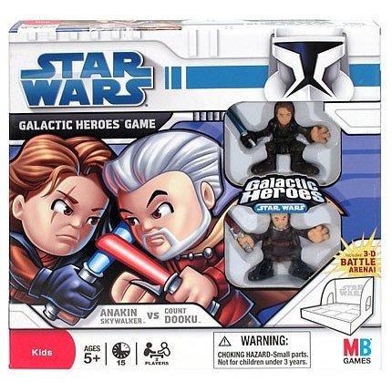 Star Wars Galactic Heroes Anakin vs. Dooku Game Milton Bradley