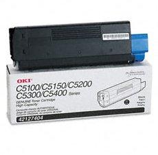 Okidata 42127404 Black Toner Cartridge Oki (C5100N/c5150/c5200/c5300/c5400 series