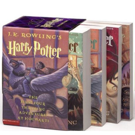 Harry Potter Paperback Boxed Set (Books 1-4) (Paperback)