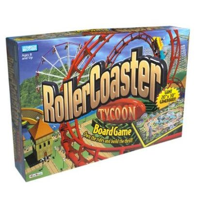 Rollercoaster Tycoon Board Game by Parker Brothers - Hasbro