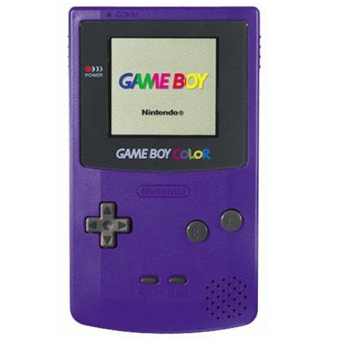 Nintendo Game Boy Color Grape Purple Plus 1 Game Handheld game system