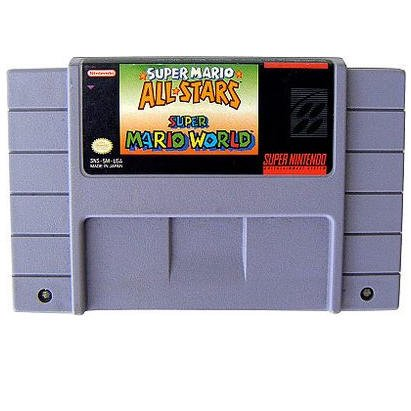 Super Mario World & Super Mario AllStars - 2 Game Cartridge  Super Nintendo Game