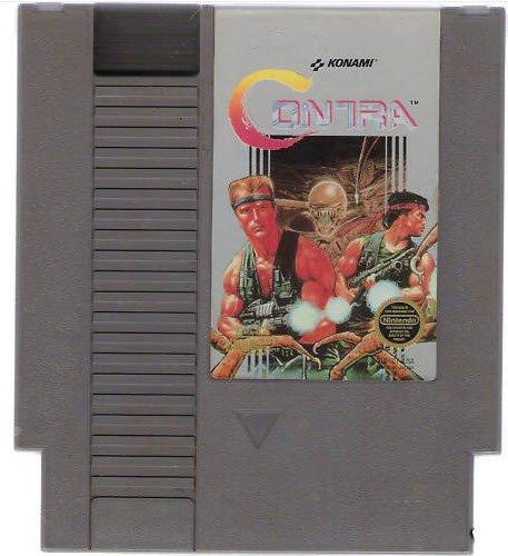 Contra ~ Original 8-bit Nintendo NES Game Cartridge
