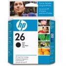HEWLETT PACKARD HP 26 black ink print cartridge high capacity crtg, yield 794