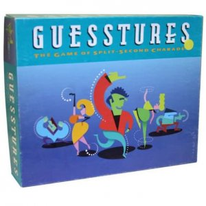 Guesstures Game The game of split-second Charades 1990