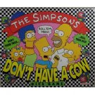 The Simpsons Don't Have a Cow Dice Game by 1990 Milton Bradley