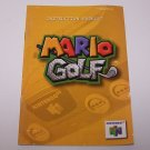 Mario Golf Original Instruction  Manual for Nintendo N64