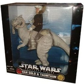 Huge 1997 Kenner Star Wars Han Solo & Tauntaun Collector Series 12 inches Figure Set