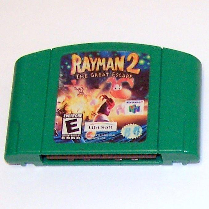 Rayman 2 The Great Escape Game Cartridge ~ N64 Nintendo 64