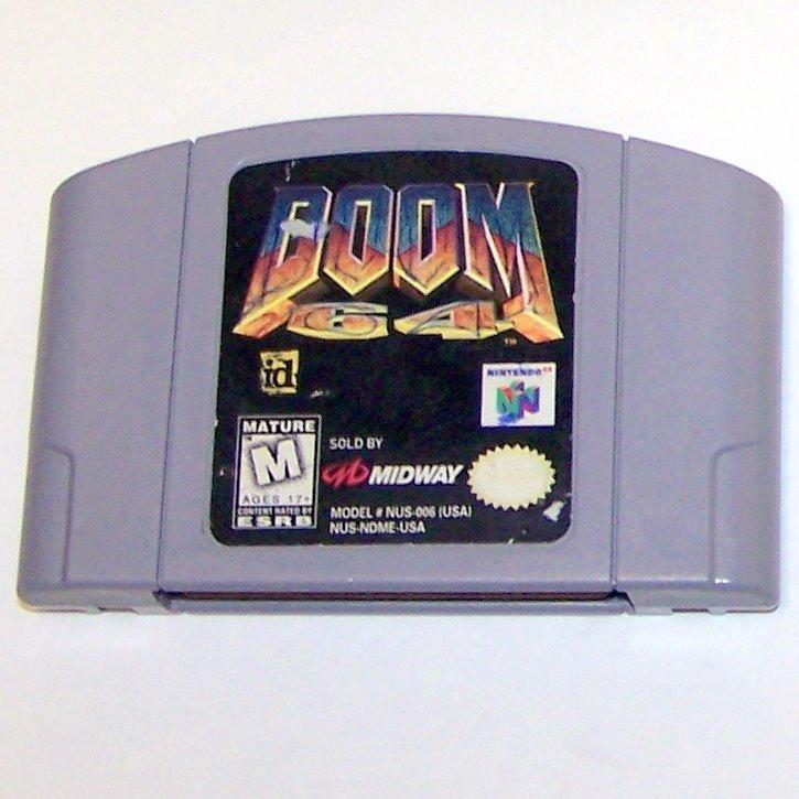DOOM 64 Game Cartridge  ~ N64 Nintendo 64