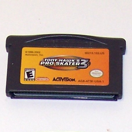 Tony Hawk's Pro Skater 3 Nintendo Game boy Advance cartridge