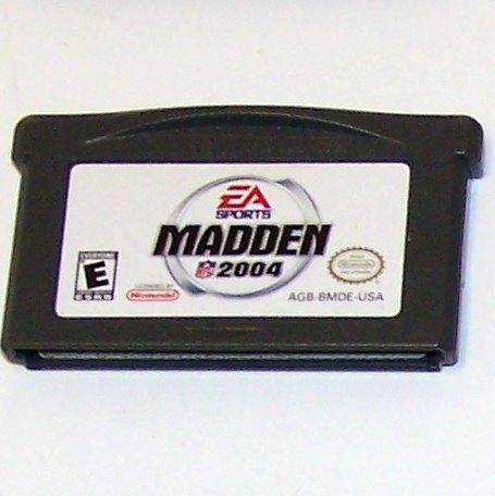 Madden NFL 2004 Nintendo Game boy Advance cartridge