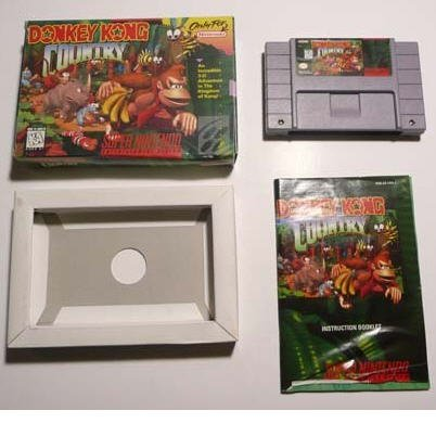 Donkey Kong Country Super Nintendo Game Complete