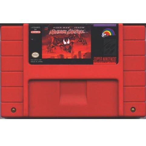 Spider-Man Venom Maximum Carnage Super Nintendo Game Cartridge