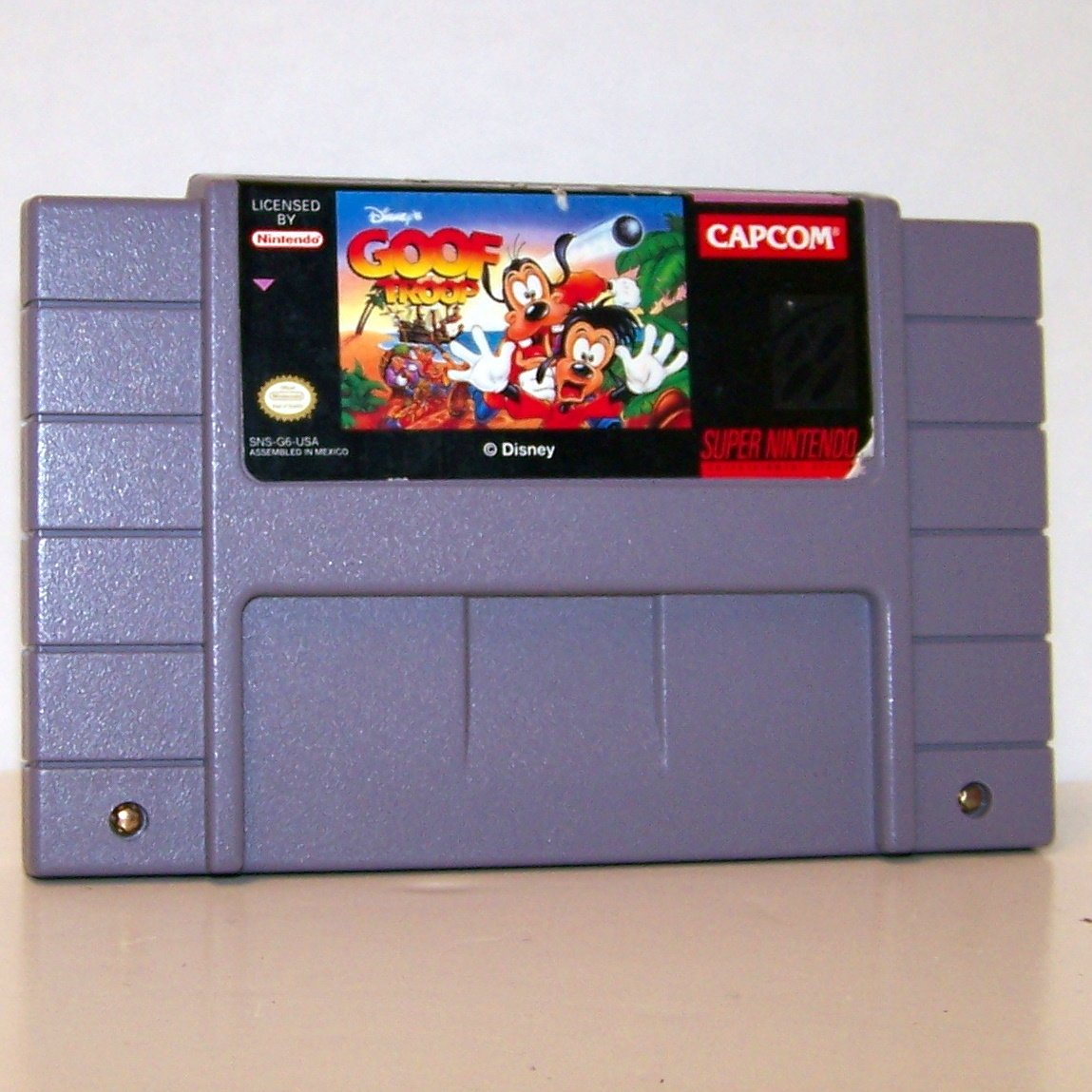 Goof Troop Super Nintendo Game Cartridge