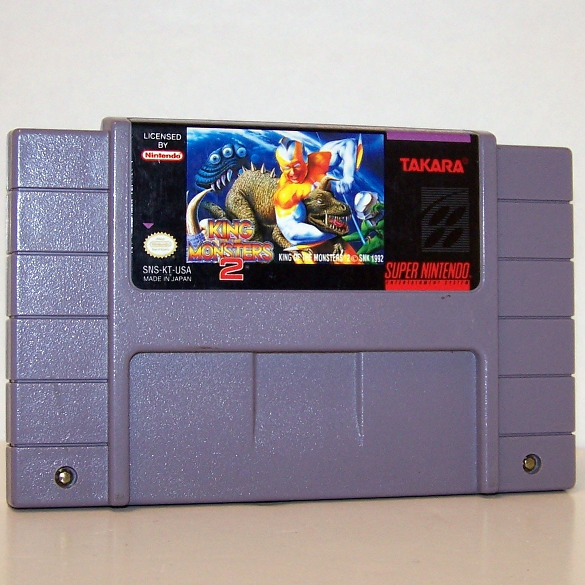 King of the Monsters 2 Super Nintendo Game Cartridge