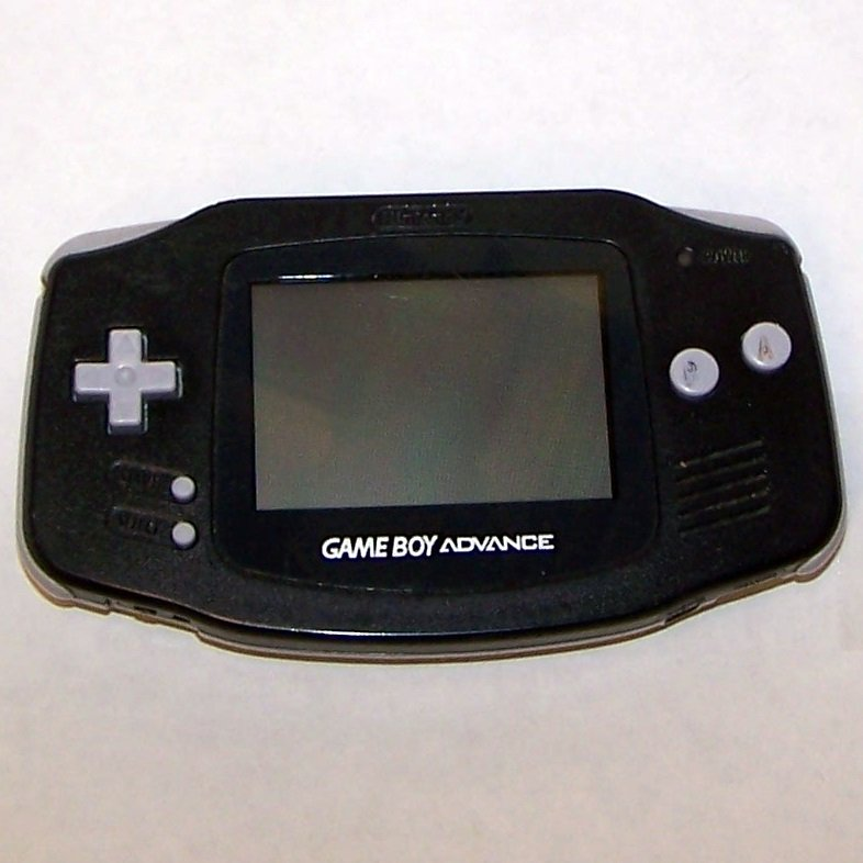 Black Game boy Advance GBA AGB-001 (2000) plus game