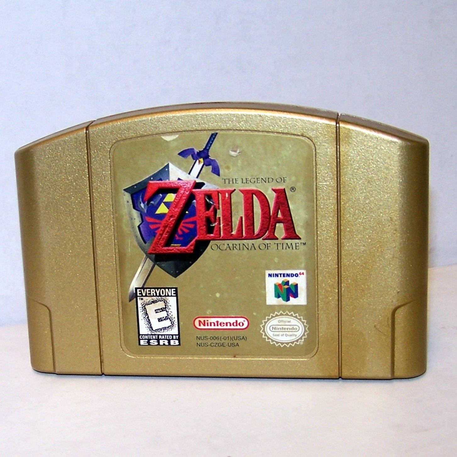 Legend of Zelda Ocarina of Time GOLD Cartridge ~ N64 Nintendo 64