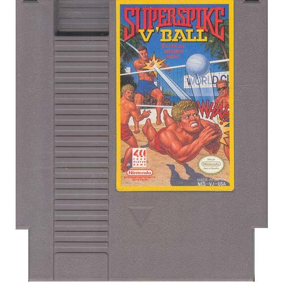 SuperSpike V'Ball Original 8-bit Nintendo NES Game Cartridge with Instructions