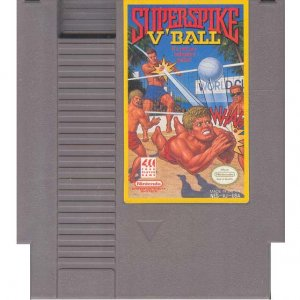 SuperSpike V'Ball Original 8-bit Nintendo NES Game Cartridge with Instructions