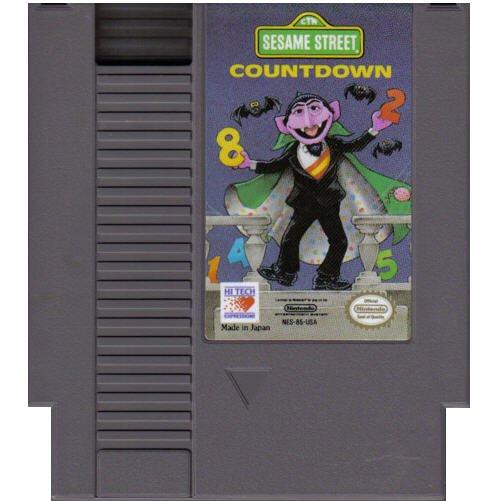 Sesame Street Countdown Original 8-bit Nintendo NES Game Cartridge with Instructions