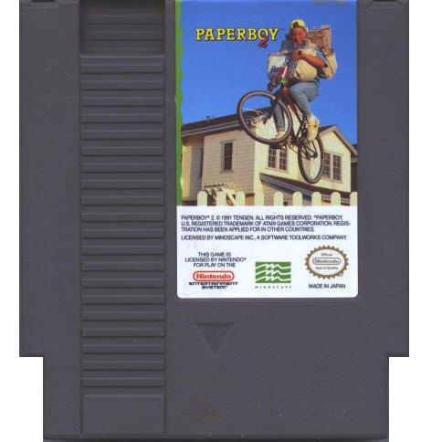 Paperboy II Original 8-bit Nintendo NES Game Cartridge with Instructions