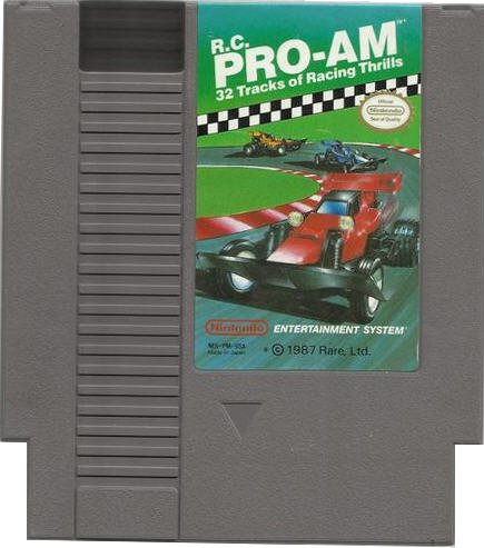 R.C. Pro Am Original 8-bit Nintendo NES Game Cartridge - Box - Instructions
