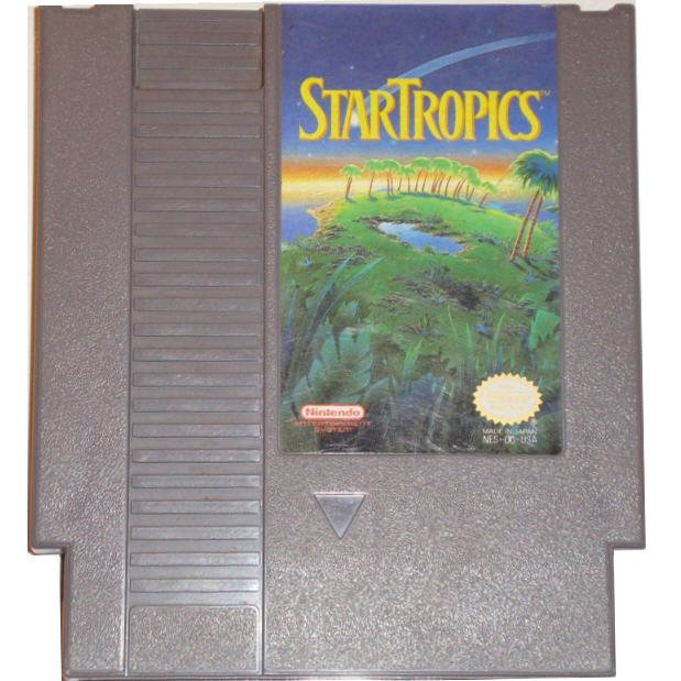 StarTropics Original 8-bit Nintendo NES Game Cartridge with Instructions