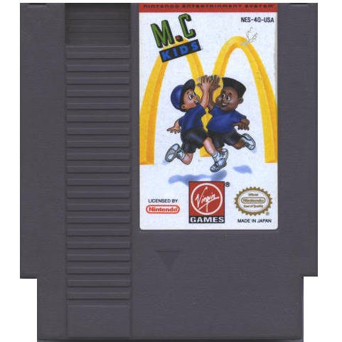 M.C. Kids Original 8-bit Nintendo NES Game Cartridge
