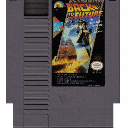 Back to the Future Original 8-bit Nintendo NES Game Cartridge with instructions