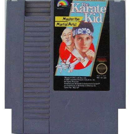 The Karate Kid Original 8-bit Nintendo NES Game Cartridge with Instructions