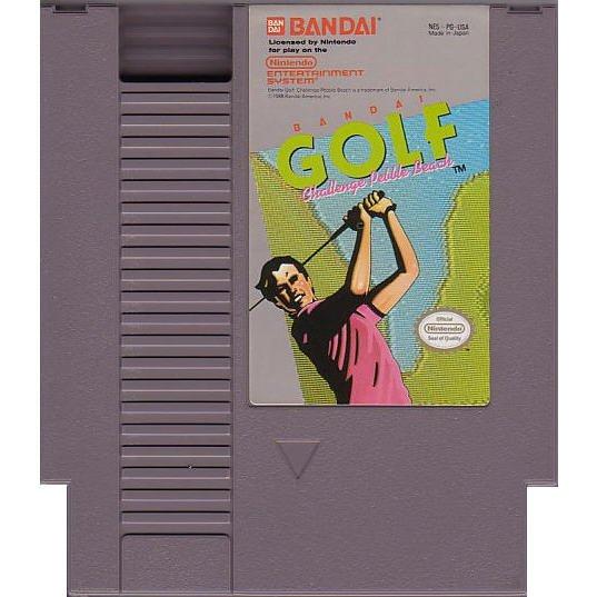 Bandai Golf Challenge Pebble Beach 8-bit Nintendo NES Game Cartridge