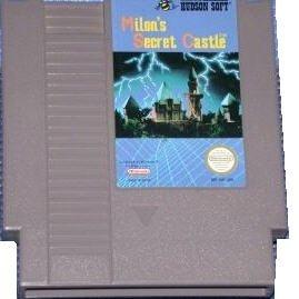 Milon's Secret Castle Original 8-bit Nintendo NES Game Cartridge plus Instructions