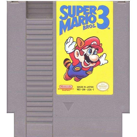 SUPER MARIO BROS 3 Original 8-bit Nintendo NES Game Cartridge