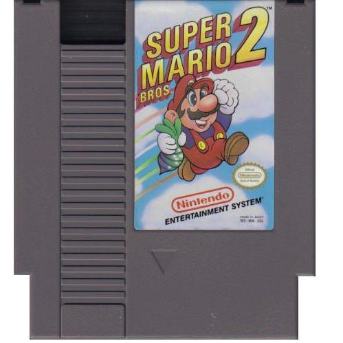 SUPER MARIO BROS. 2 Original 8-bit Nintendo NES Game Cartridge