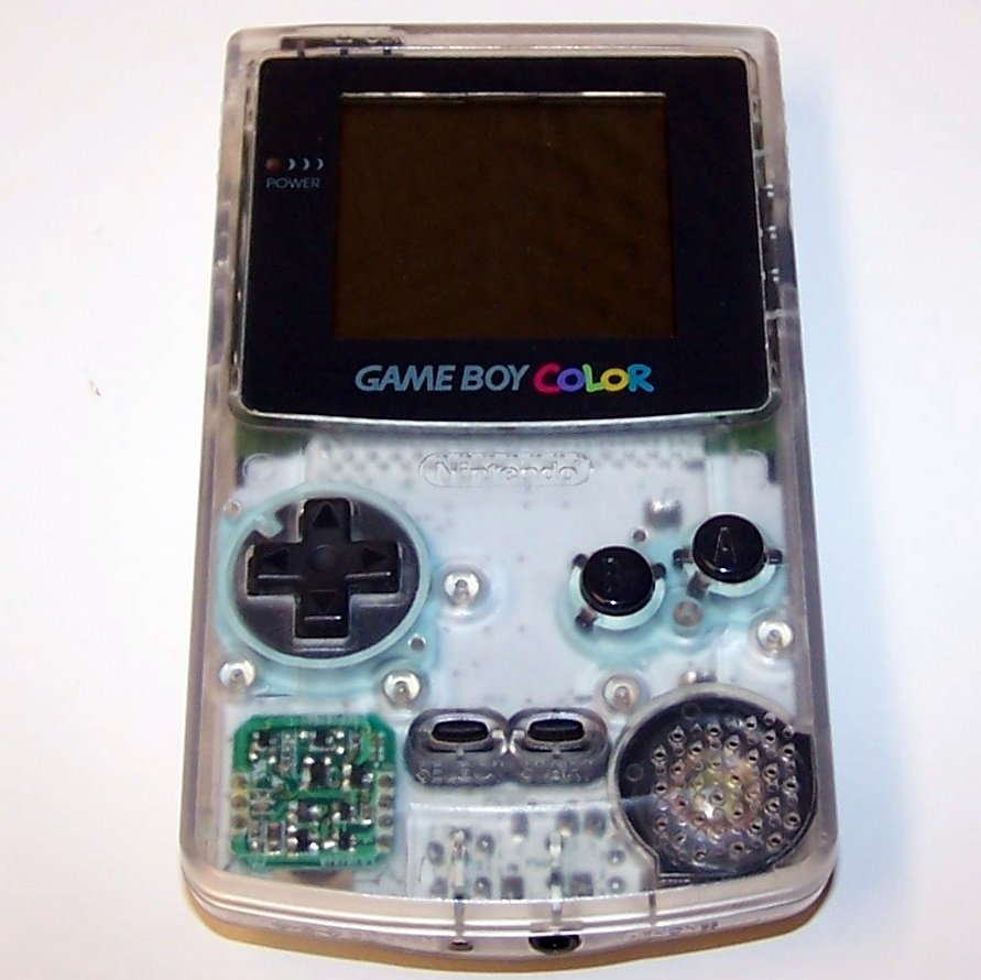 Nintendo Game Boy Color Clear Plus 1 Game Handheld game system