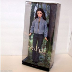 Twilight Bella Barbie with Stand & certficate of Authenticity Pink Label Mattel