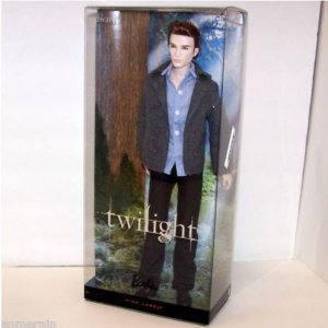 Twilight Saga Edward with Stand & certficate of Authenticity Pink Label Mattel