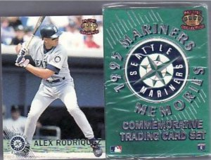 1995 Pacific Seattle Mariners Trading Card Set 50 cards Alex Rodriguez misprint
