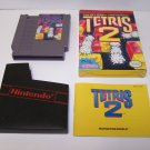 Tetris 2 Original 8-bit Nintendo NES Game Cartridge Complete with Box