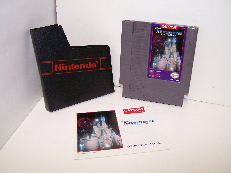 Disney Adventures in the Magic Kingdom Original 8-bit Nintendo NES Game Cartridge with Instructions