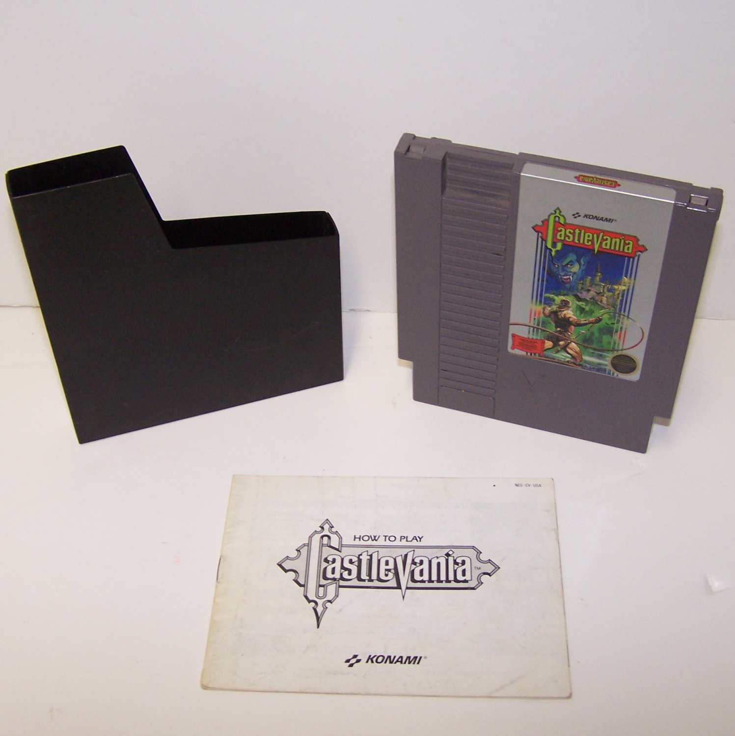 Castlevania ~ Original 8-bit Nintendo NES Game Cartridge and Instruction Manual