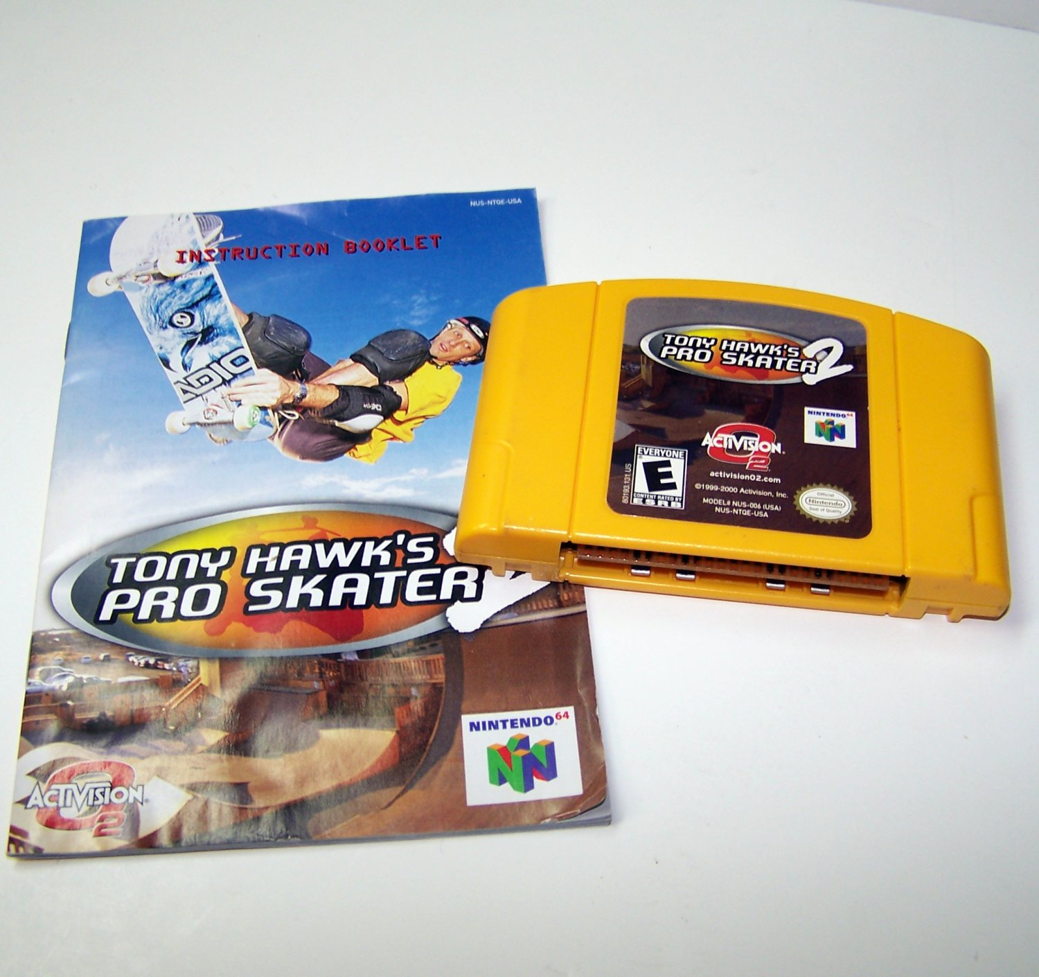 Tony Hawk's Pro Skater 2 Yellow Cartridge and Instructions ~ N64 Nintendo 64