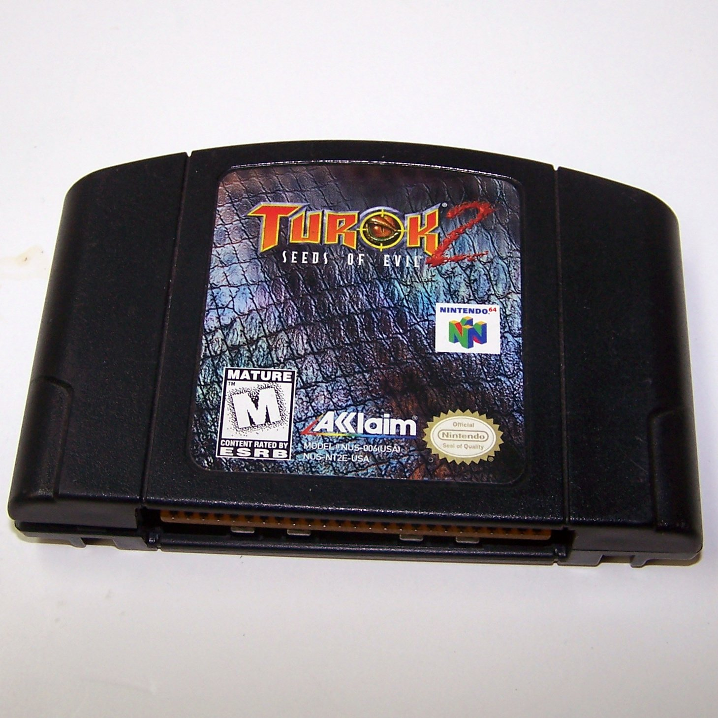Turok 2 Seeds of Evil N64 Nintendo 64 Game Cartridge
